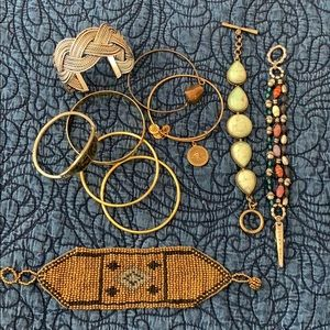 Assorted bracelets from Lucky brand, Alex and Ani